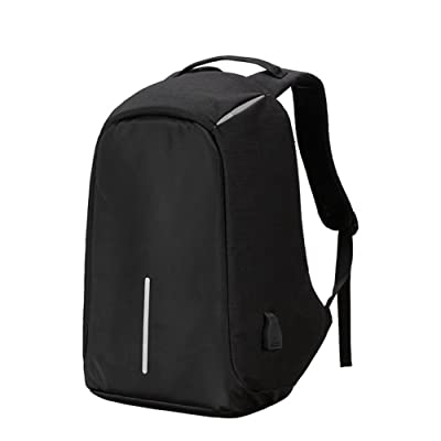 Functional Anti-theft Travel Bag Business Computer Backpack College Charger Bag (black)