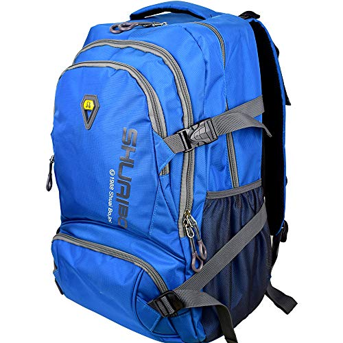 Large Laptop backpack 35L Lightweight Water Resistant Travel Hiking Daypack 15.6 Inch Macbook laptop bag (Blue)