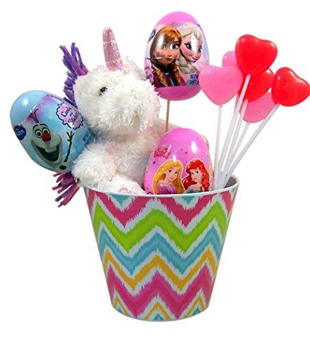 Unicorn-Stuffed-Animal-Easter-Basket-with-Princess-Candy-and-Eggs