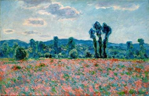 Oil Painting 'Claude Monet Poppy Field In Giverny, 1890' 16 x 25 inch / 41 x 63 cm , on High Definition HD canvas prints is for Gifts And Dining Room, Game Room And Powder Room Decoration
