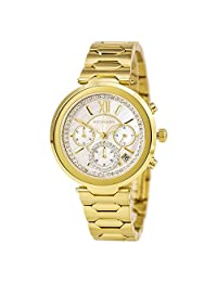 Wittnauer WN4032 Women's Taylor White MOP Dial Yellow Gold Tone Steel Chronograph Watch