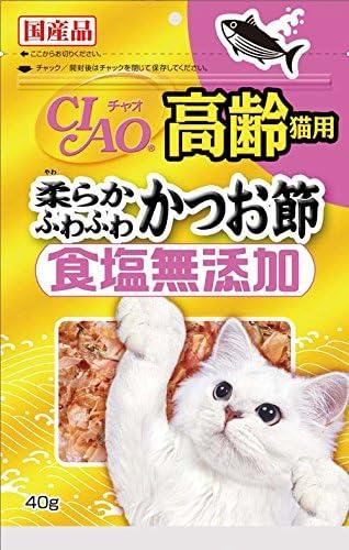 チャオ (CIAO) 食塩無添加 高齢猫用柔らかふわふわかつお節 40g