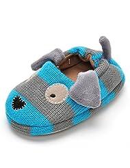 Estamico Baby Boy Doggy Winter Slippers