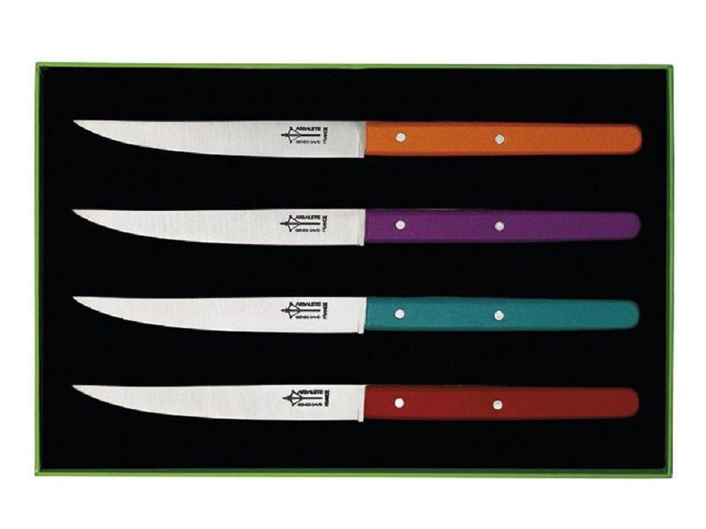 Coffret 4 Cuchillos de Mesa Laguiole Genes David Manga ...