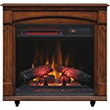 ChimneyFree Electric Infrared Quartz Fireplace with Remote, 5,200 BTU, Cherry Infrared Heaters