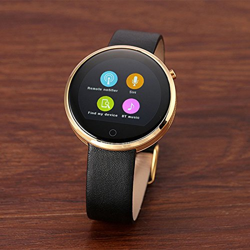 Meiyiu 1.22inches Full-Scale Closed IPS HD Capacitive Touch Screen IP53 Waterproof HR Monitoring Smart Health Watch Gold by Meiyiu