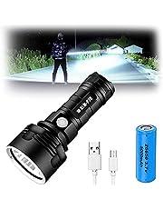 50w xlm-p70,30000-100000 lumens 3 Modes high Brightness led Flashlight, Rechargeable 1000000 lumens P70 Most Powerful LED Flashlight USB Zoom Torch