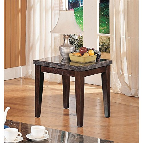 Bowery Hill End Table in Black and Walnut