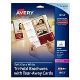 Avery Tri-Fold Brochure with Tear - Away Cards, 50 Brochures (16152)