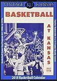 Vintage Kansas Jayhawks 2018 College Basketball Calendar: Football Game-day Program Art: 1900s to 1970s