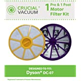 Dyson DC07 Filter Kit w/ Pre & Post-Motor Filters; Compare to Dyson Part Nos. 90142-02, 921623-01, 901420-01, 904979-02, 905401-01; Designed & Engineered by Think Crucial