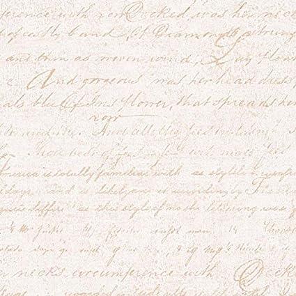 Carta Da Parati Con Scritte.Carta Da Parato Vintage Con Trama Effetto Tessuto Avorio E Scritta Corsivo Beige Decoeasy 21510 41