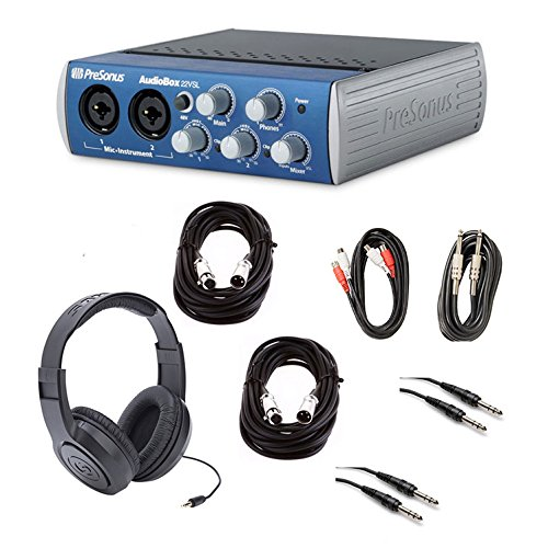Presonus AudioBox 22vsl Computer Recording Interface with Headphones and Cable Package ()