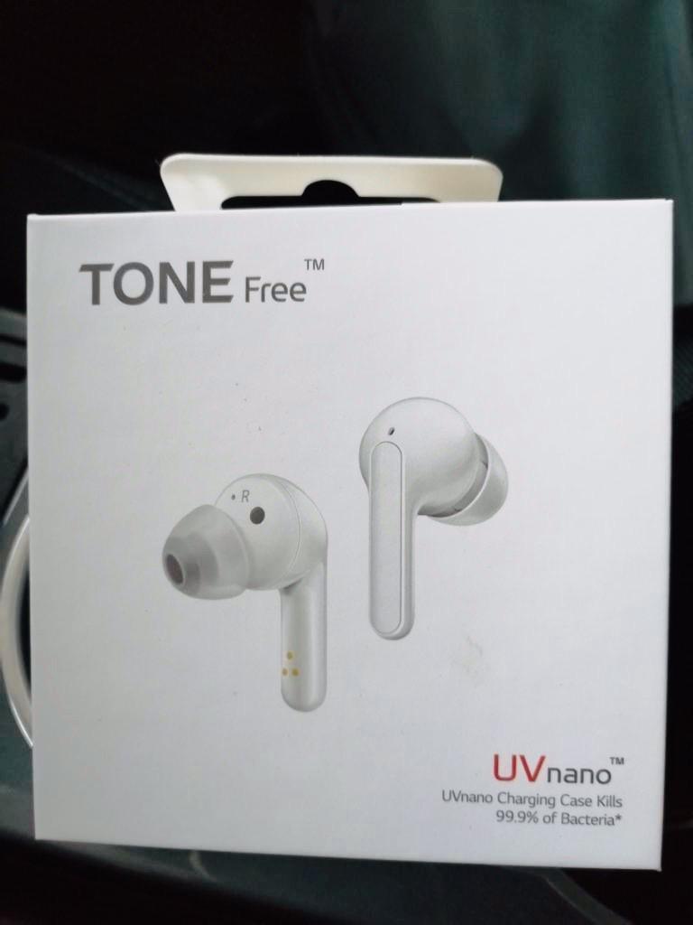 LG TONE Free FN6 Auriculares True Wireless con autolimpieza UVnano, con tecnología Meridian Sound, doble micrófono para…