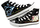 D.S.MOR Little Kid Cat Casual Canvas Shoes Lace Up