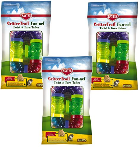 (3 Packages) Kaytee CritterTrail Fun Twist and Turn Value Pack, Colors Vary