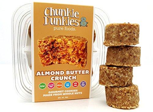 Chunkie Dunkies RAW VEGAN Almond Butter Crunch Cookies 4 Packs (16oz)