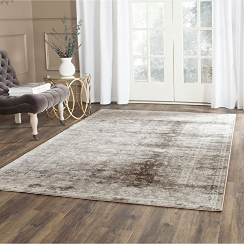 Brown Transitional Area Rug (Safavieh Vintage Collection VTG430B Transitional Oriental Brown and Ivory Distressed Area Rug (8' x 11'))