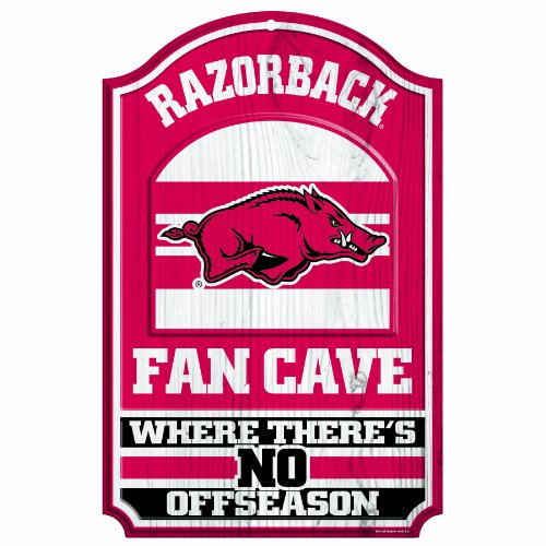 NCAA Arkansas Razorbacks Fan Cave Wood Sign, 11