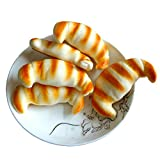 Moonguiding 8CM Simulation Croissants Soft Squishy phone Charm Bread Straps Pendant