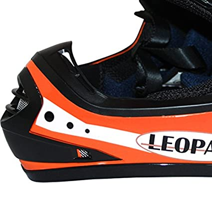 Leopard LEO-X18 Children Kids MX Motocross Motorbike Helmet /& Gloves /& Goggles 51-52cm Butterfly M