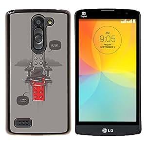 "Be-Star Único Patrón Plástico Duro Fundas Cover Cubre Hard Case Cover Para LG L Prime / L Prime Dual Chip D337 ( Divertido juguete Alter Mensaje del inconformista"" )"