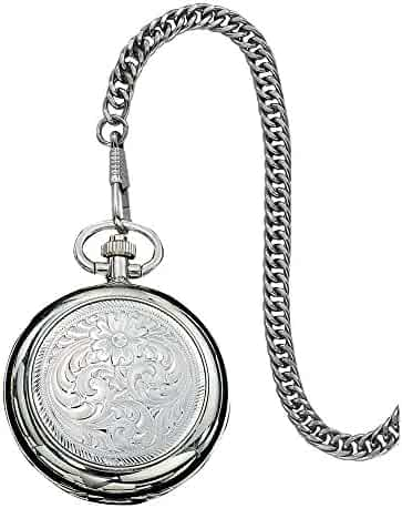 Montana Silversmiths WATCHP10 Montana Time Analog Display Quartz Pocket Watch
