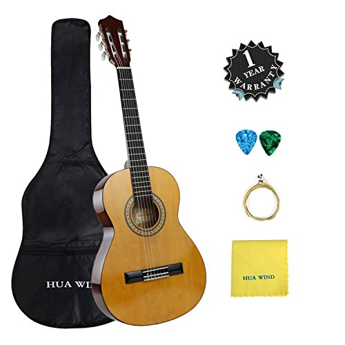 4/4 Full Size Classical Guitar for Beginners 39 inch Nylon String Acoustic...