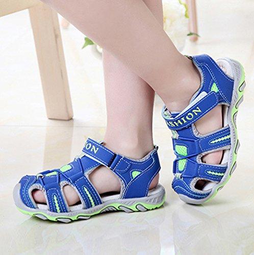 YiLianDa Verano Chicos Sandalias de Playa Zapatos por Chicos Antideslizante Sandalias Azul