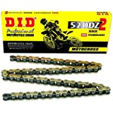 D.I.D 520ATV-124 Gold 124-Link High Performance X-Ring Chain with Connecting Link