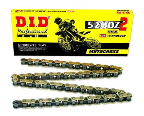 D.I.D 520ATV-130 Gold 130-Link High Performance X-Ring Chain with Connecting Link