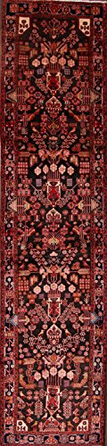 Nahavand Hamadan Handmade Palace Sized Persian Runner Rug 16 ft Long for Stairs (15' 8'' x 3' 7'')