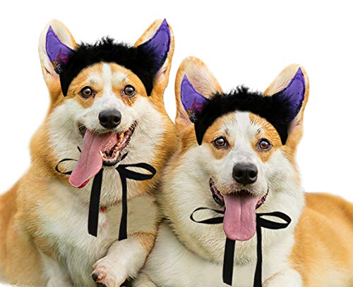 JPB Dog Halloween Costumes,2 Pack Devil Horns Headbands for Dogs