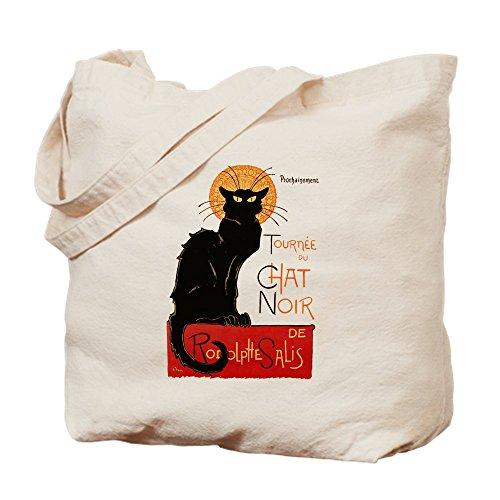 CafePress–Tournee Du Chat Steinlen gato negro–gamuza de bolsa de lona bolsa, bolsa de la compra