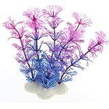 SODIAL (R)Plantes d'eau Violet Bleu plastique artificielle Decoration pour Aquarium reservoir de poissons