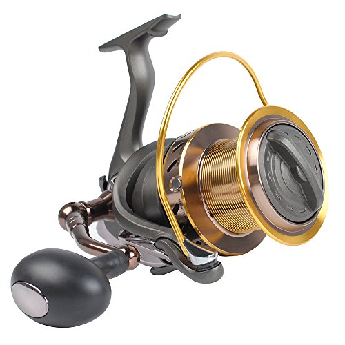 Dr.Fish Saltwater 12000 Spinning Reel Surf Fishing Heavy Duty Long Casting Ultra High Capacity Offshore 13+1 BB (Best Fishing Line For Casting Reel)