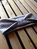 quilted ear warmers - Grey Quilted Knit Ear Warmer
