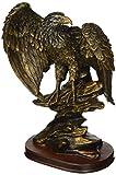 StealStreet SS-UG-PY-4751 Bronzed Paint Eagle Collectible Decoration Bird Figurine Statue