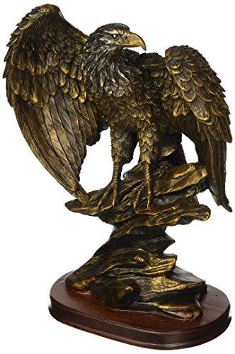 StealStreet SS-UG-PY-4751 Bronzed Paint Eagle Collectible Decoration Bird Figurine Statue ()