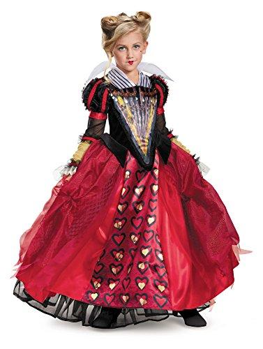 Red Queen Movie Costume (Red Queen Deluxe Alice Through The Looking Glass Movie Disney Costume, Medium/7-8)
