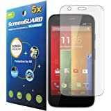 5x Motorola Moto G XT1032 Premium Clear LCD Screen Protector Cover Kit (Package by GUARMOR)