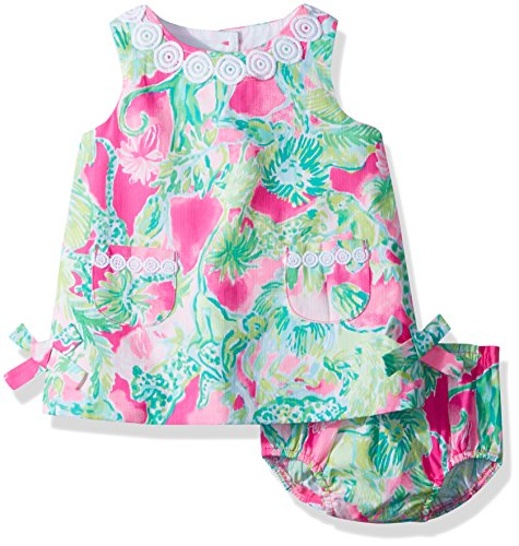 Lilly Pulitzer Baby Girls Lilly Shift Dress, Razzle Berry Catty Shack, 12/18M