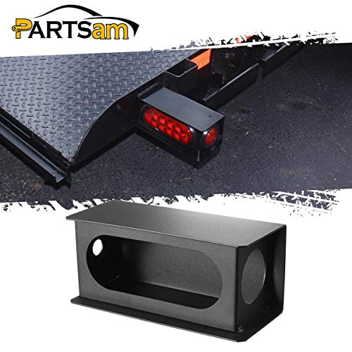 Partsam Steel Trailer Truck Tail Light Mounting Box Black Steel - 6