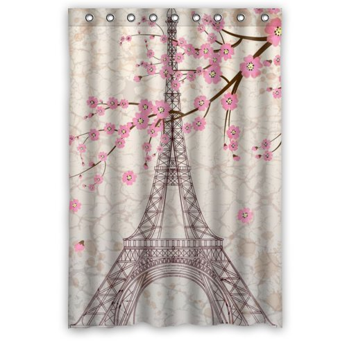 Amazon WECE Paris Eiffel Tower Bathroom Shower Curtain 48 X 72 Home Kitchen
