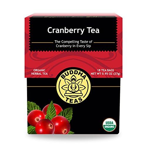 Organic Cranberry Tea - Kosher, Caffeine-Free, GMO-Free - 18 Bleach-Free Tea Bags (Cranberry Organic Tea)