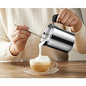Milk Frothing Pitcher, Stainless Steel Creamer Frothing Pitcher, Perfect for Espresso Machines, Milk Frothers, Latte Art 12oz 20 oz