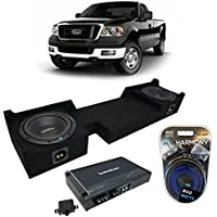 2004-2008 Ford F-150 Ext Super Cab Truck Rockford Prime R1S410 Dual 10 Sub Box Enclosure & R250X1 Amp