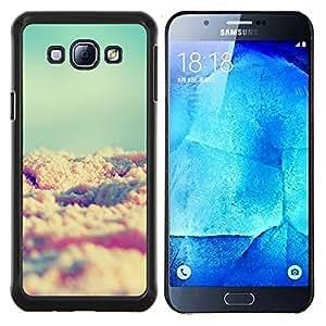 YiPhone /// Prima de resorte delgada de la cubierta del caso de Shell Armor - arena de la playa del trullo del sol del verano viñeta - Samsung Galaxy A8 A8000