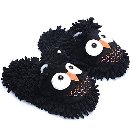 Black Owl femme Ofoot pour Chaussons txw6qpczI