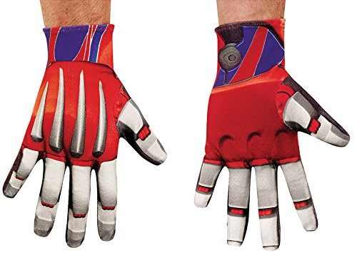 (Disguise Transformer Optimus Prime Gloves Movie Theme Costume Accessory)